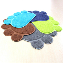 Pet Small Footprint Foot Sleeping Pad Placemat Cat Litter Mat Dog Puppy Cleaning Feeding Dish Bowl Table Mats Wipe Easy Cleaning(China)