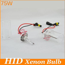 Free shipping! xenon 75W hid bulbs H1 H3 H7 H11 H8 H9 9005 9006 880 H10 etc.xenon lamp for car headlight guarantee one year(China)