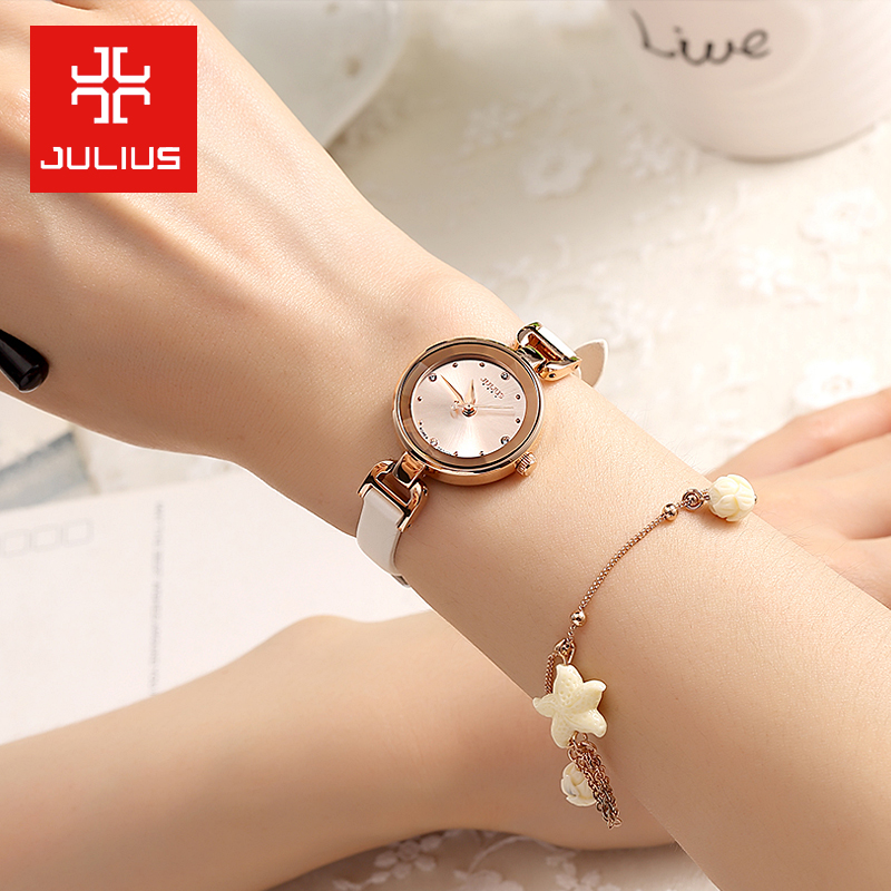 Cute Simple Lady Womens Watch Elegant Rhinestone Fine Fashion Hours Clock Top Dress Leather Bracelet Girl Gift Box<br><br>Aliexpress