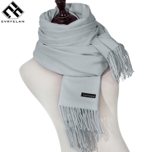 Evrfelan Brand Winter Scarf For Women Scarves High Quality Solid Color Shawl Fashion Female Scarf Warm Wraps Bandana(China)
