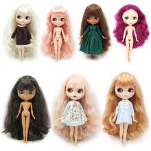blyth doll joint body neo Long hair suitable for cosmetic diy refit BJD Toys factory nude fashion doll icy dolls special price