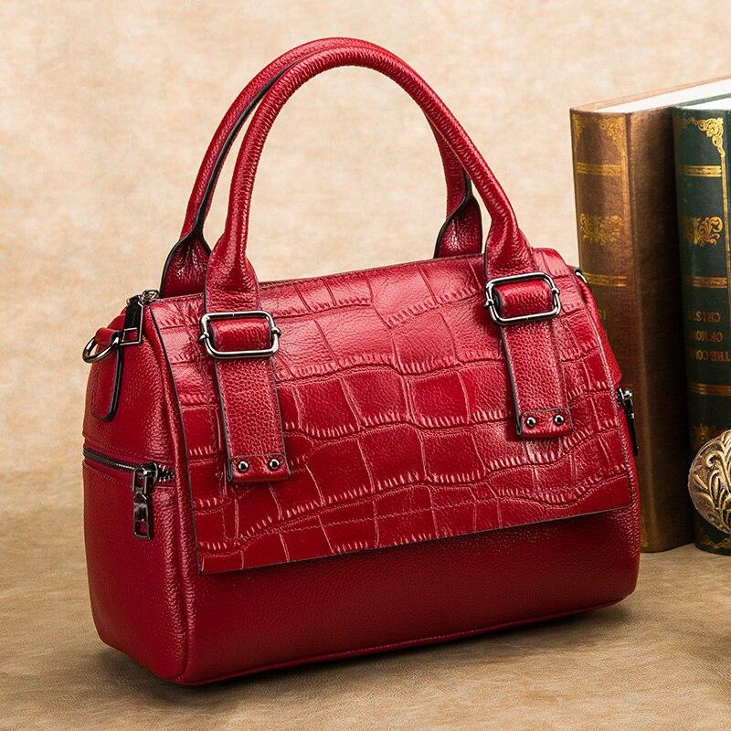 Cowhide Cowhide Tote Bag Genuine Leather Women Handbag\Bag Fashion Simple ladies Shoulder Bag Messenger Bag~16B15<br><br>Aliexpress