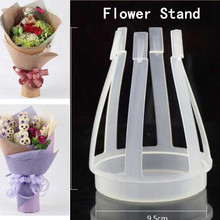 New Artificial Flower Bride Bouquet Flower Stand Wedding Church Party Decor Clear White BW017