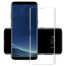 Full Coverage 3D Curved Tempered Glass Film For Samsung Galaxy S8 / S8 Plus 9H Front Protective Screen Protector