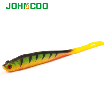 JOHNCOO 6pcs Soft Bait Fishing Lure Silicone Bass Minnow Bait 125mm 9.2g Swimbaits Plastic Lure Pasca Sea Fishing Lure