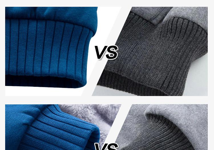 Hoodies Sweatshirt Men 17 New Autumn Winter Warm Thick Solid Casual Brand Tracksuit Men's Sweatshirts Hooded Plus Size 5XL 14