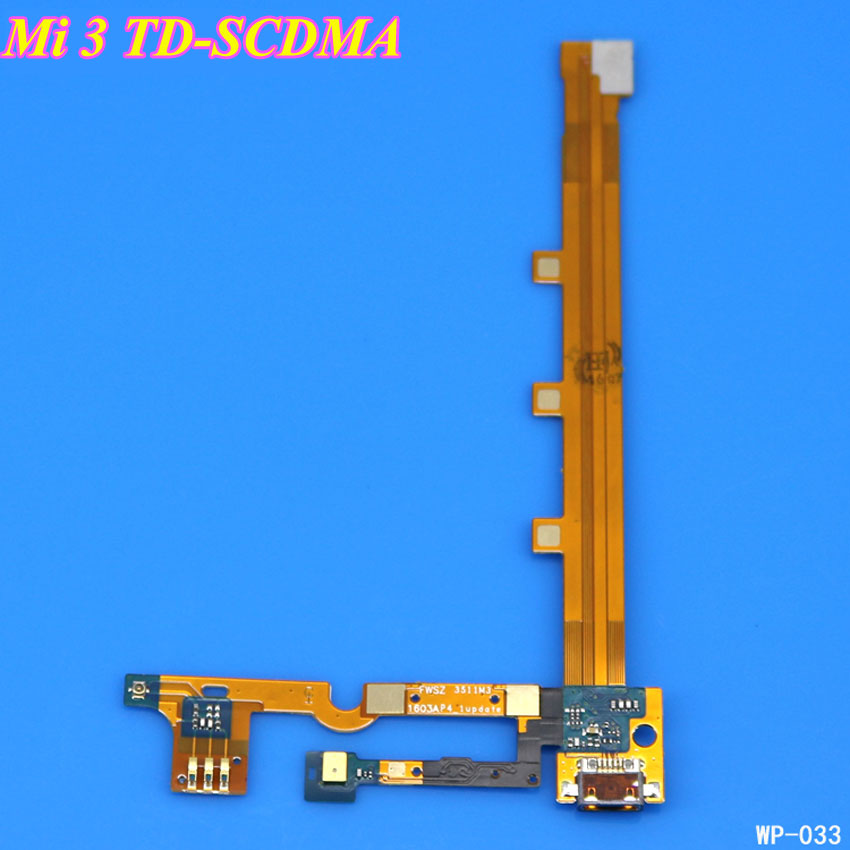 ChengHaoRan 1PCS for Xiaomi Mi3 Mi 3 M3 Replacement Parts USB Dock Charging Port + Mic Microphone Module Board Ribbon Flex Cable