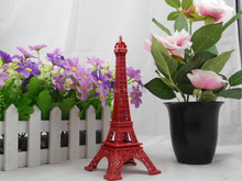 18CM Red Painted Paris The Eiffel Tower Decor Torre Eiffel(China)