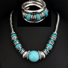 2016 New Bohemia Colourful Fashion Jewelry Set Bracelet Necklace Earring Sets for Women Wholesale X1606