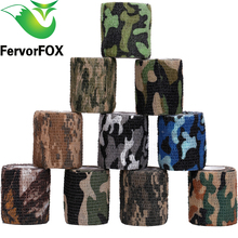5cmx4.5m Army Camo Outdoor Hunting Shooting Tool Camouflage Stealth Tape Waterproof Wrap Durable accessories new arrival(China)
