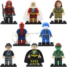 Super Hero block DC Black Adam Carter Spider-man Dick Grayson Red Arrow Shazam Green Lantern Building Blocks Set Model Toy