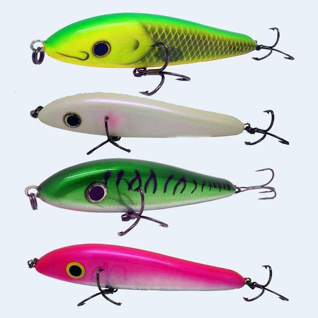 New 180MM 120G Hard Plastic Slow Sinking Jerkbait Fishing Lure Pike Muskie Swim bait <br><br>Aliexpress