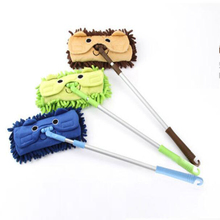 Hot Sell Mini mop handy easy mops floor / car/ window cleaning new chenille telescopic removable dust mop Chenille cartoon