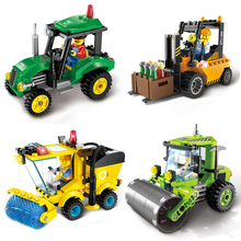 City Series Forklift Truck Building Blocks Compatible with Lepin City Construction Blocks DIY Toy for Children Gift
