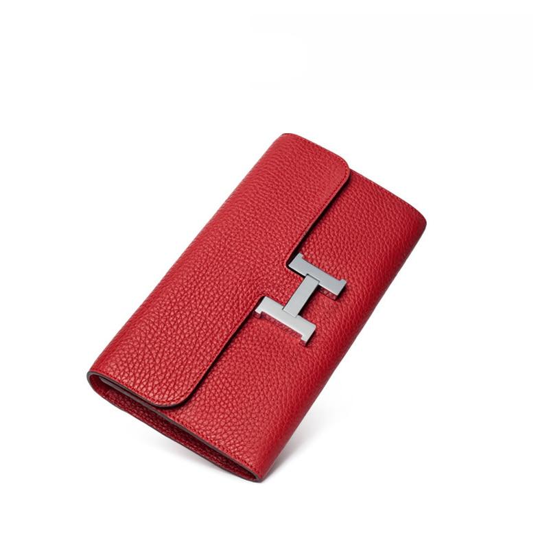 Large sister large brand women wallet new design Genuine Leather wallet women multi card female long purs<br>