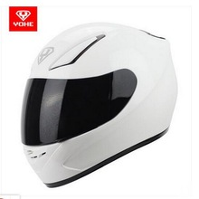 YOHE Motocross full face Motorcycle Helmet Moto Racing Helmet made of ABS and PC visor YH-991 with white color size M L XL XXL(China)