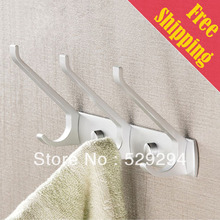 Free Shipping Robe Hooks,clothes hanging hook.coat,robe,hat wall hook.  Matte finished. Bathroom Accessories  XY-001B