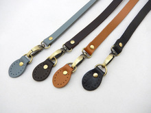 Free shipping High quality Real Genuine leather bag handle. DIY bag strap handbag handle+buckle accessories 120*1.5cm
