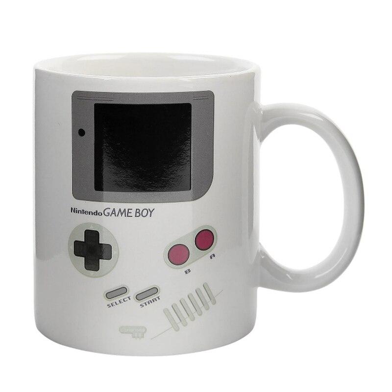 2.3Game Boy Mug Color Change Magic Mug Cup Ceramic Coffee Tea Mug Gamepad Mug Funny Heat Sensitive Cups for Boy Creative Gift