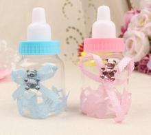 60pcs/lot Baby Bottle Candy Box Party Supplies Baby Feeding Bottle Wedding Favors and Gifts Box Baby Shower Baptism Decoration