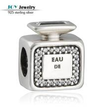 Fits Brand Charms Bracelets Original 925-Sterling-Silver Signature Scent Perfume Bottle Beads With CZ For Jewelry Making Diy