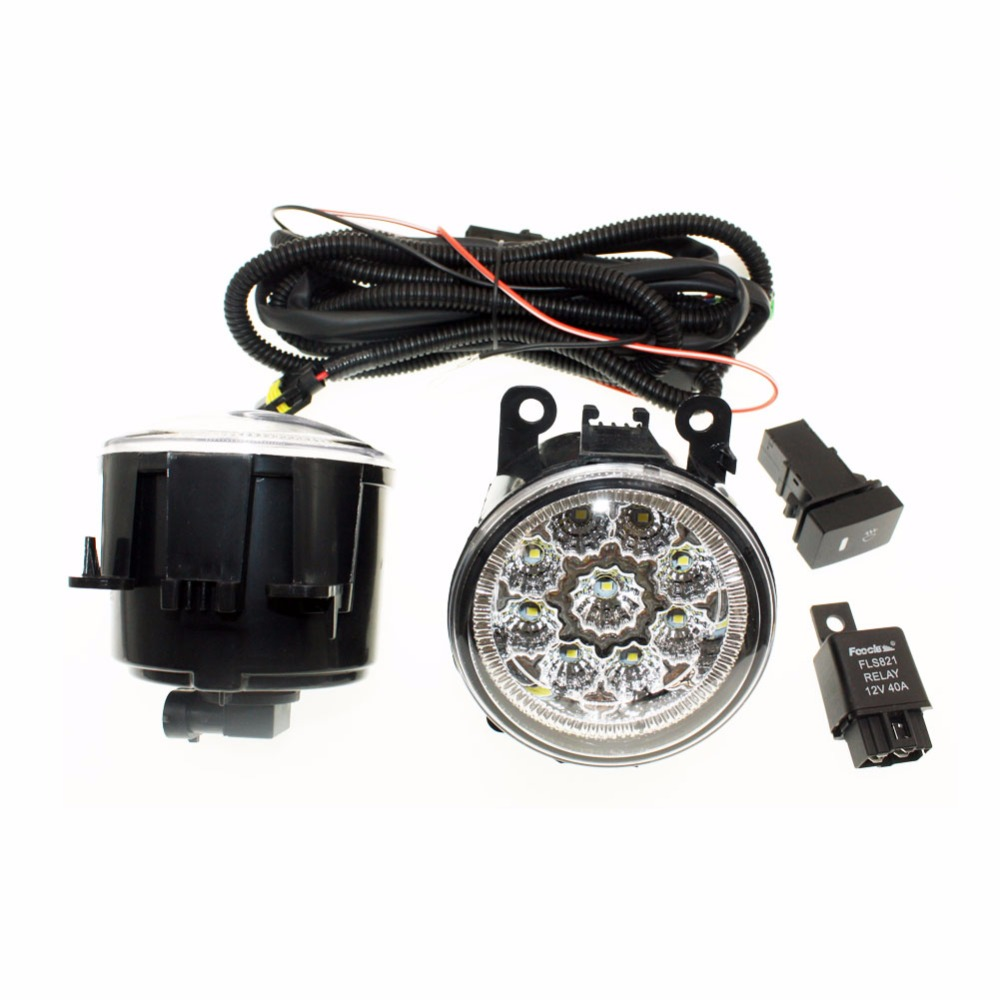 For Suzuki Grand Vitara 2 JT 2005-15  H11 Wiring Harness Sockets Wire Connector Switch + 2 Fog Lights DRL Front Bumper LED Lamp <br>