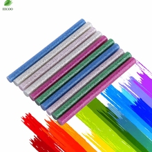 10pcs/set Mix Color Glitter Hot Melt Glue Stick Adhesive Sticks Kit Craft Attaching For Electric Glue Gun Hand Tool