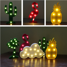 Novelty Products Cloud Lamp Pineapple Flamingo Star Bear Letter Cactus Decor LED Lamp Plastic Night Light For Kids Night lamp
