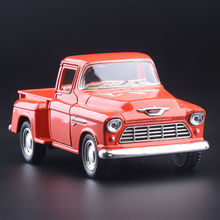 High Simulation Exquisite Diecasts&Toy Vehicles KiNSMART Car Styling Ford 1955 Chevrolet Stepside Pickup Truck 1:36 Alloy Model
