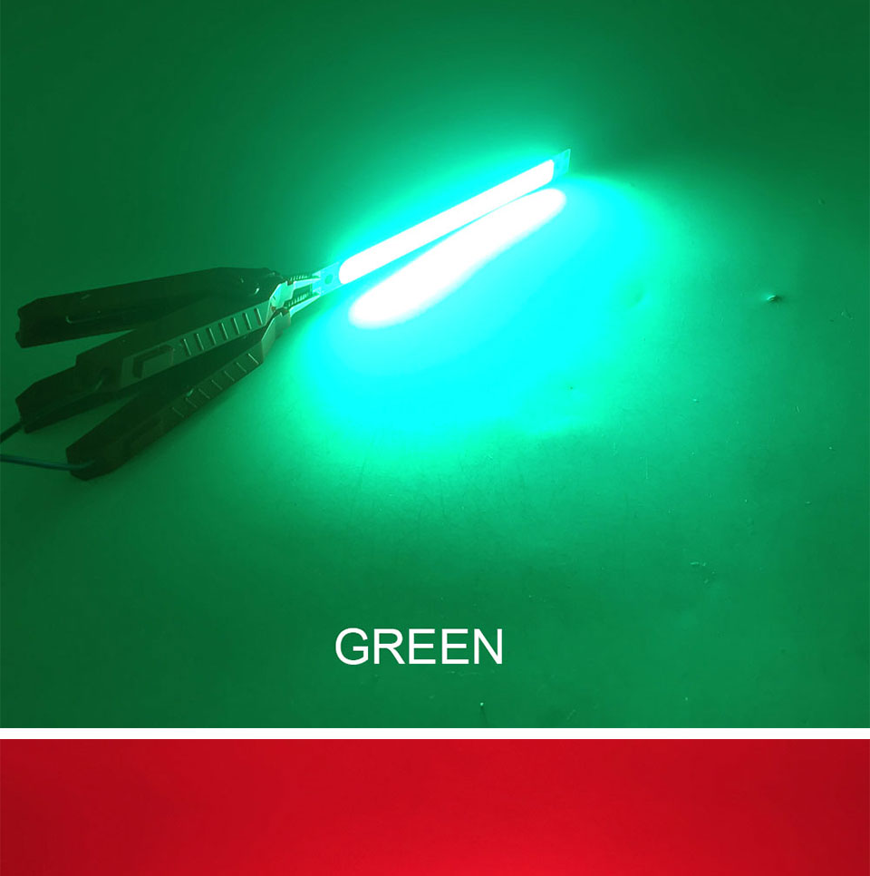120mm 4.72in LED Bar Light Strip COB Bulb 12V 7W 10W LED Lamp Green Blue Red White Emitting Colors 12010mm COB Chip (16)