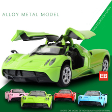 Hot 1:36 scale open door Pagani Huayra metal model super sports diecast car pull back alloy toys with light & sound Collection