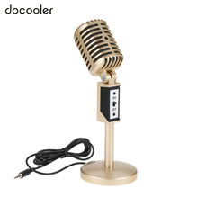 Professional 3.5mm Computer Microphone Audio Studio Multimedia Wired Stand Mic for Skype/MSN/Online Chatting/Meeting/Singing