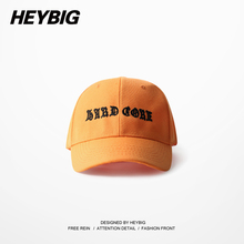 Gothic style Dad cap Light Orange New Baseball caps 2017 Spring 6 panels Hats bent visor Youth Snapback Gorras Customizable