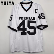"YUEYA ""Friday Night Lights"" Movie Jerseys #45 EJ Boobie Miles Permian American Football Jersey Mens Cheap White S-3XL"