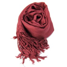 Women Scarf Vintage Ladies Solid Color Black Red White Scarves Warp shawl female bufanda mujer ht(China)