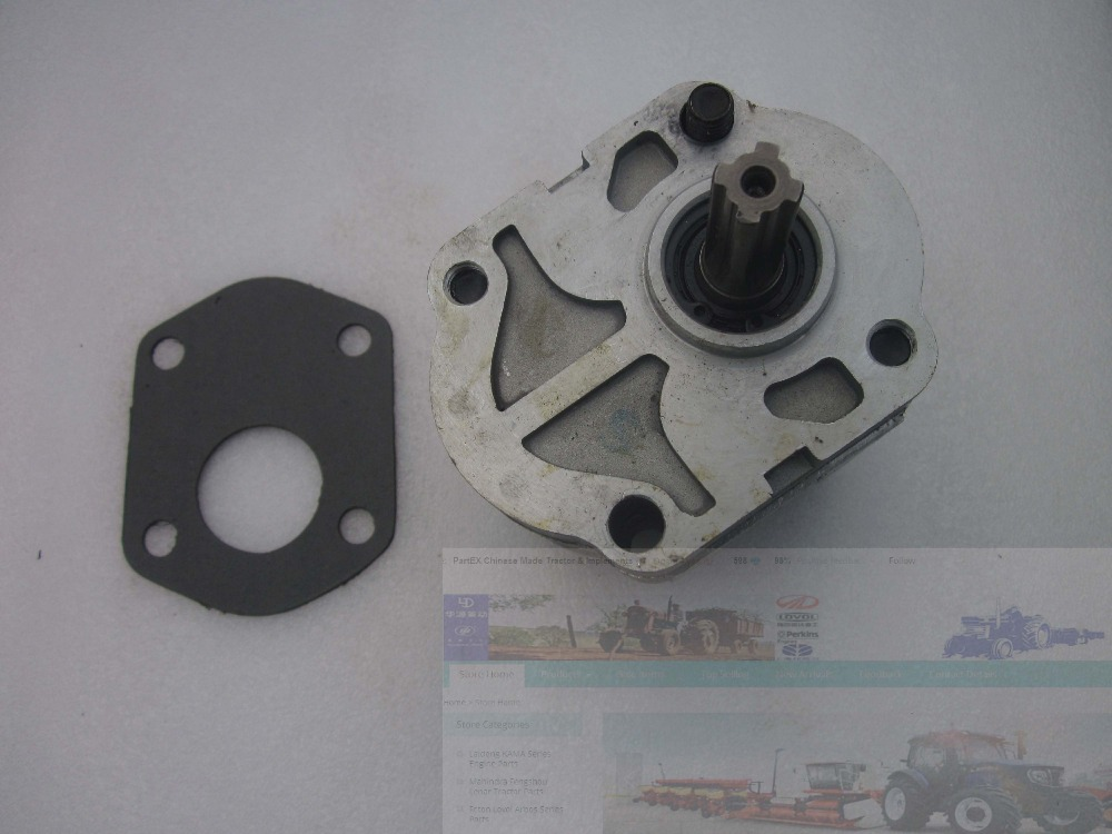 Gear pump CBN-E314L (left rotary, with no flange, no end oil outlet, splined shaft) of Dongfeng tractor<br>