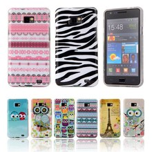 "For Galaxy se case Silicone Soft TPU cover Owl Tower Flag cartoon case For Samsung Galaxy S2 i9100 SII 4.3""Phone Case Cover"