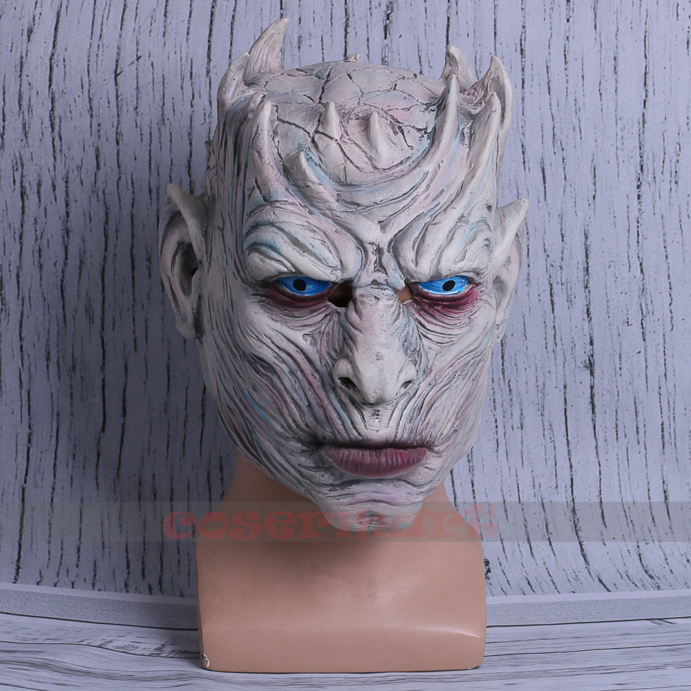 Cosplay Game of Thrones Night's King Walker Face NIGHT RE Zombie Halloween Mask For Adults Throne Costume Party Accessory (5)