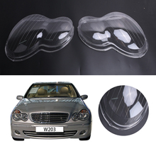 2x Transparent Housing Headlight Lens Shell Cover Lamp Assembly For Mercedes Benz W203 4-Door C230 C200 C240 2001-2007 #PD553
