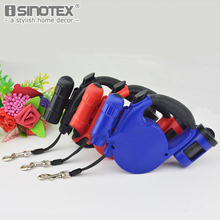 Automatic Retractable Leashes Walking Pet Cat Dog Puppy Lead LED Lights Solid ABS Plastic Garbage Bag 3 Colors 4.5m Rope Length(China)