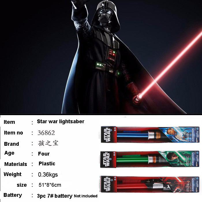 Hot Selling Star Wars Jedi(Darth vader OBI-War etc) lightsaber &amp; laser sword Force With sound &amp; Light<br><br>Aliexpress