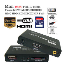 20pcs Voxlink HD1080P Multimedia Mini usb player HDMI Media Player  Support  HDMI MKV RM with MMC/SD/MS/SDHC card free shipping
