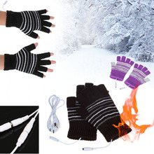 1 Pair New Design 5V USB Powered Heating Heated Winter Hand Warmer Gloves Washable Cheap