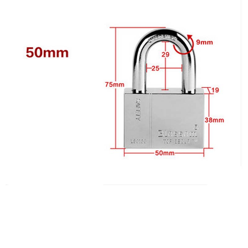 50mm,Warehouse security window gates tamper with anti-rust steel blade plum small padlock violence<br><br>Aliexpress