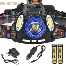 Super 15000Lm 3x XML T6 Rechargeable Headlamp HeadLight Torch USB Lamp+18650+Charger 170118