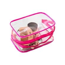 TEXU PVC Clear Pouch make up bag Bathing Toiletry Zipper Cosmetic organizer bag