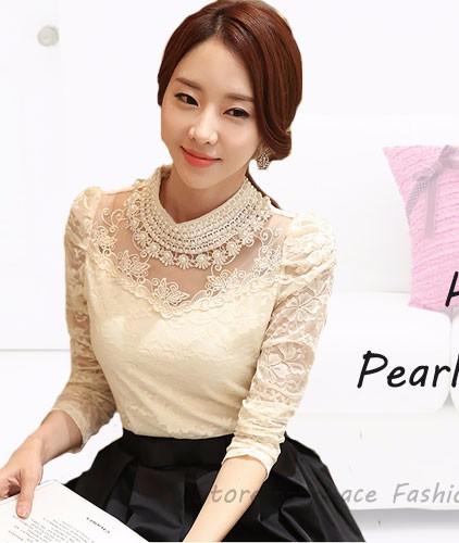 HTB15bVWRpXXXXX9aXXXq6xXFXXX0 - New Women Chiffon blouse Flower long sleeved Casual shirt