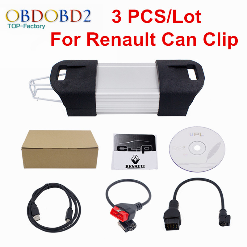 3 PCS/Lot For Renault Can Clip Auto Diagnostic Interface For Renault Clip Excellent PCB Board Newest Software V162 DHL Free<br><br>Aliexpress