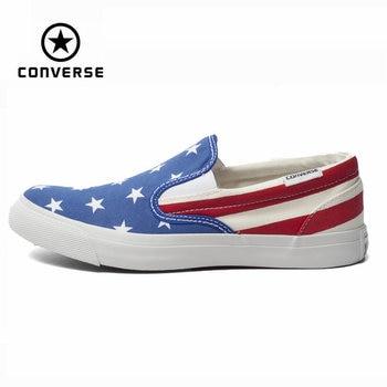 Original Converse all star zapatos costuras de Color de la bandera nacional de los hombres bajos de las mujeres zapatillas de deporte zapatos de lona Zapatos de Skate clásico