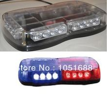 United Safe free shipping low profile GEN III 1 Watt super bright LED mini Lightbar(amber/blue/red/white)